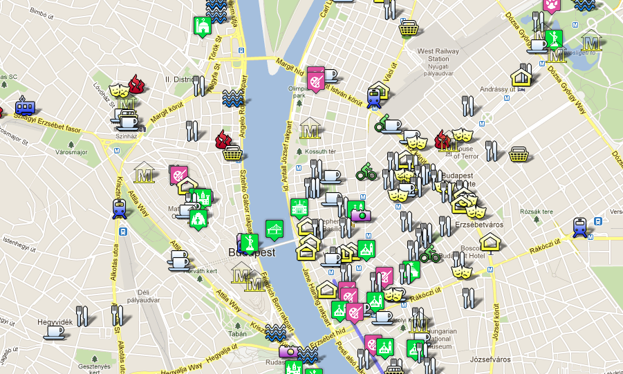 Budapest Tourist Map by TopBudapest.org