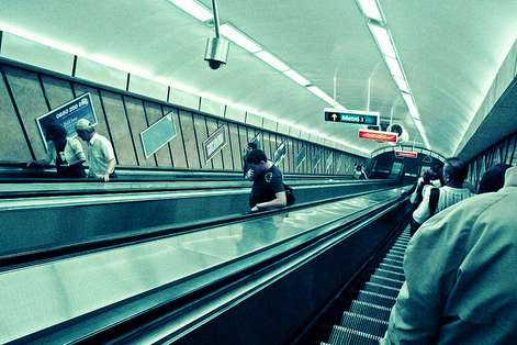 Budapest escalators to the metro