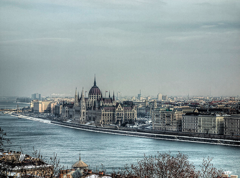 Flat Pest side of Budapest - shot from the Gellert Hill - photo by Neil Howard
