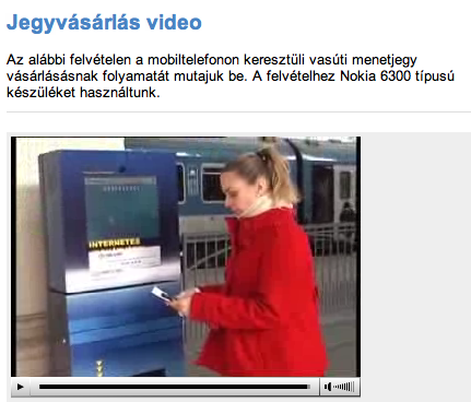 Printing out your Hungarian train ticket bought via internet