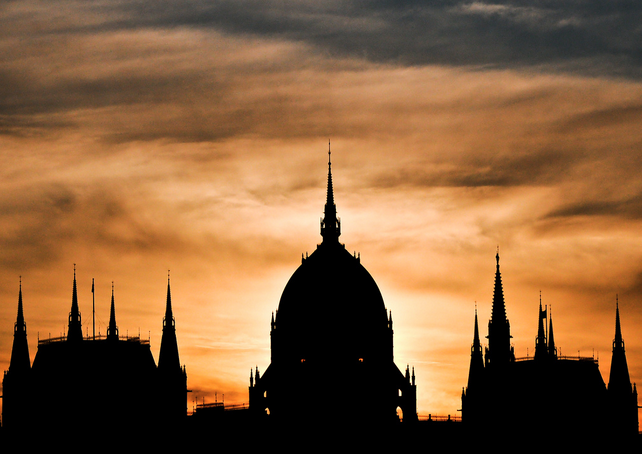 Silhouette of the Hungarian Parliament, Budapest