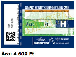 7 Day Travel Card Budapest - public transport passes