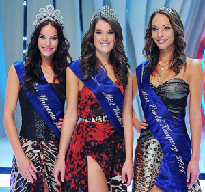 Hungarian Girls in a Miss Hungary Beauty Contest