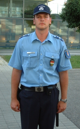 Uniform of a Hungarian policeman