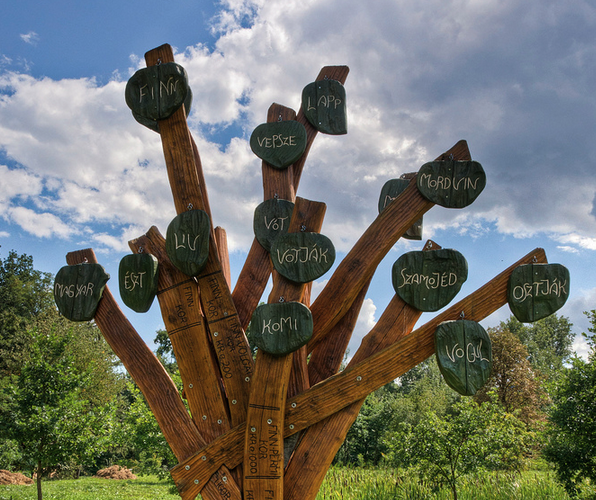 Hungarian Language Tree in Szephalom, Hungary
