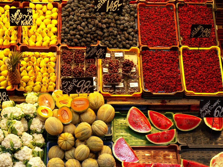 Fruits at Lehel Market Hall, Budapest