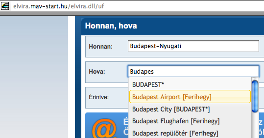 Budapest Airport Train Transfer