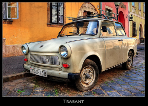 Trabant in Budapest the Communist car